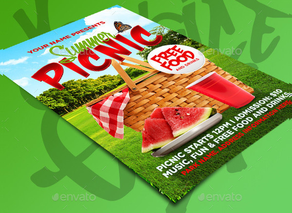 Printable Summer Picnic Flyer Template