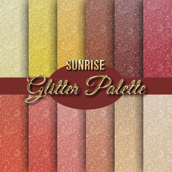 Sunrise Palette Glitter Backgrounds