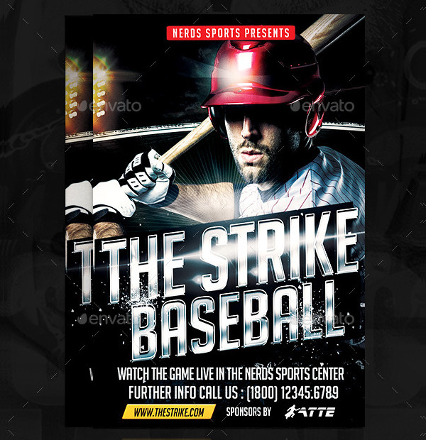 The Strike Baseball PSD Flyer