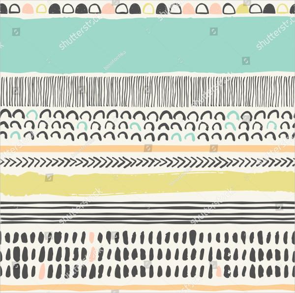 Trendy Vector Seamless Pattern Art Brushes Strokes