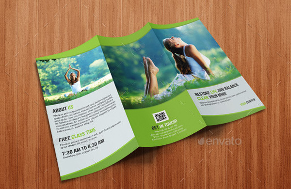 Tri-Fold Yoga Brochure Design