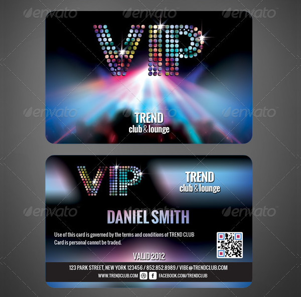Printable Membership Cards Template