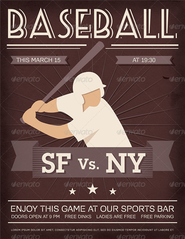 Vintage Baseball Flyer Design