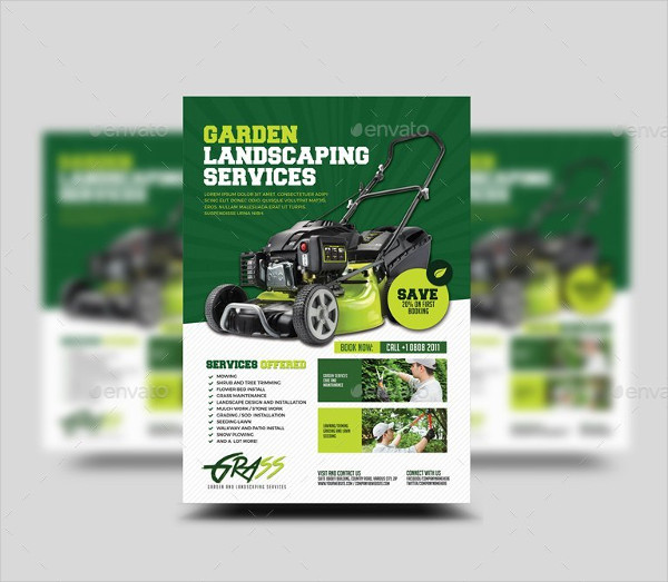 Printable Garden Landscaping Services Flyer