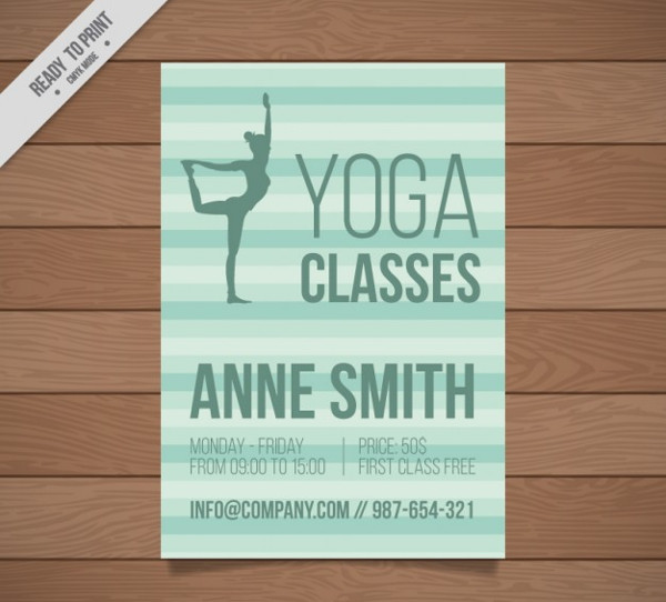 Yoga Classes Brochure Free Download