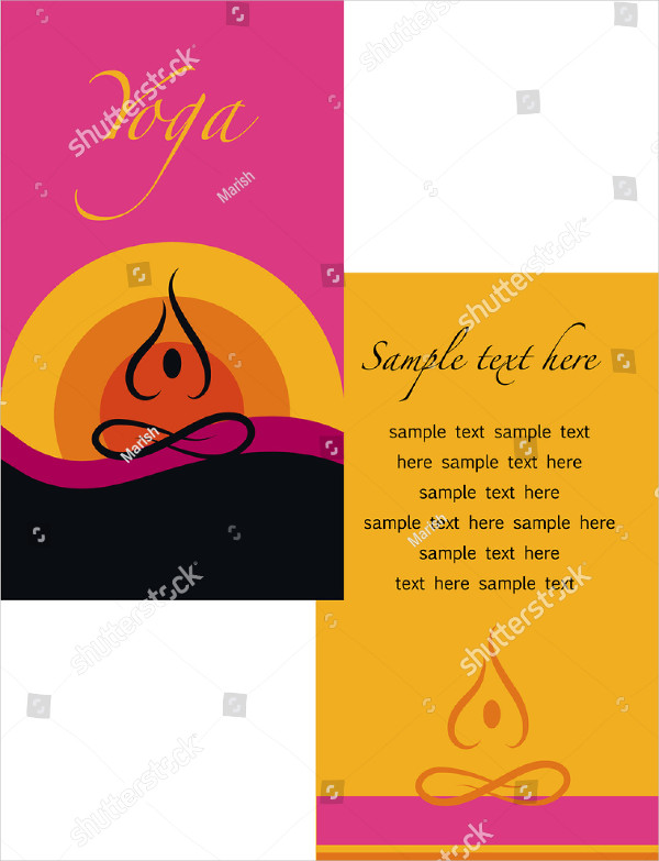 Sample Yoga Studio Brochure Template