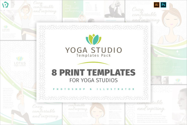 Yoga Studio Templates Pack for Photoshop