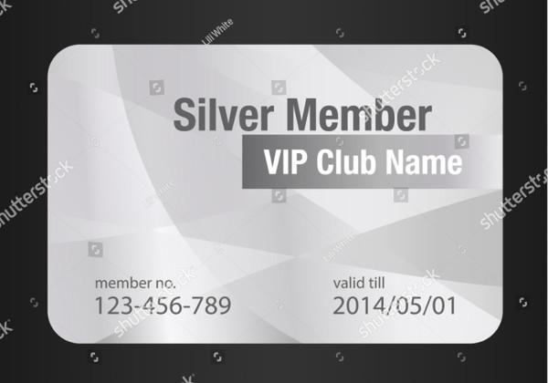 Silver Member VIP Card Template