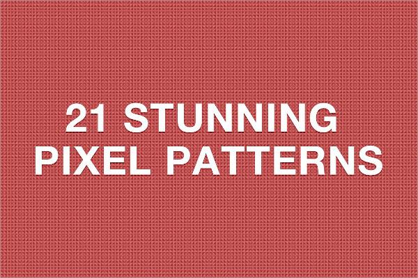 21 Stunning Pixel Pattern Set