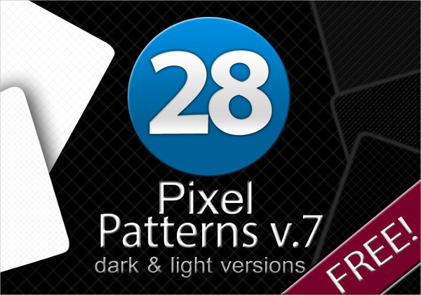 28 Minimalistic Pixel Photoshop Patterns Free