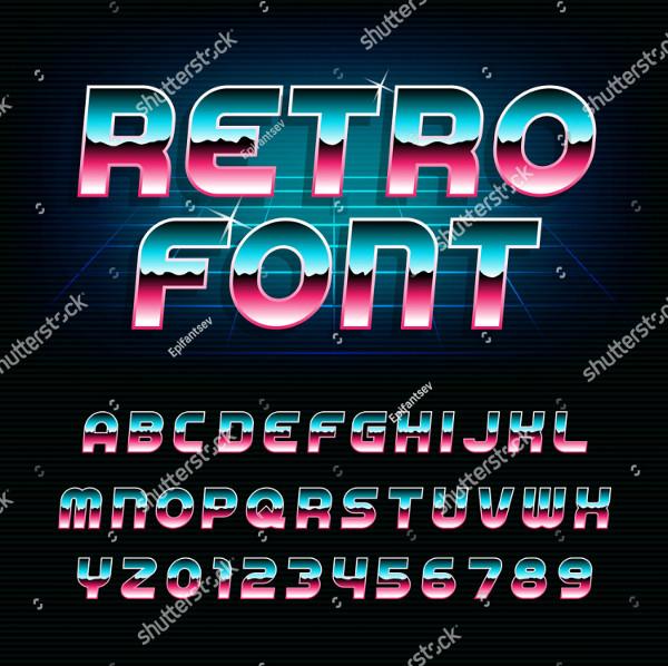 80's Retro Alphabet Font