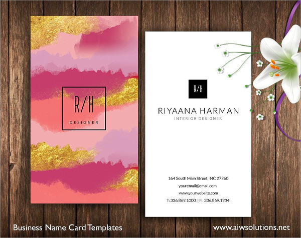 Business Name Card Templates