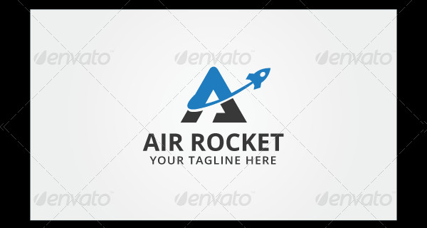 Air Rocket PSD Logo Template