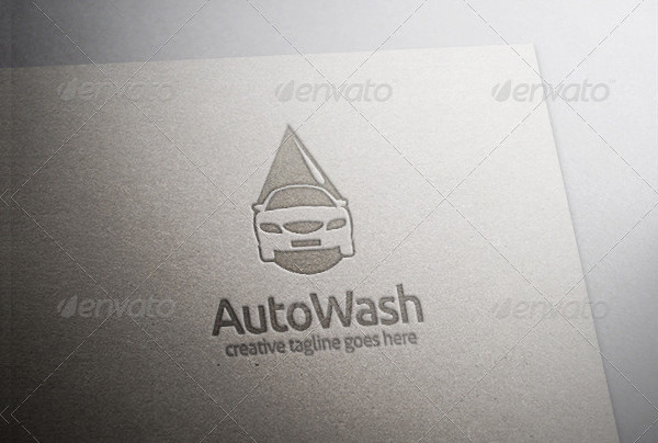 Auto Car Wash Business Logo Template