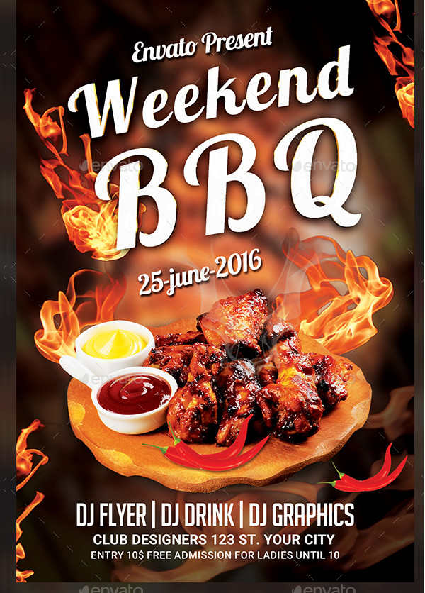 Custom BBQ Event Flyer Design