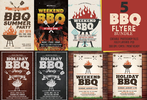 Big BBQ Flyer Templates Bundle
