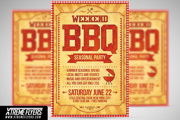 PSD Seasonal Party Flyer Template