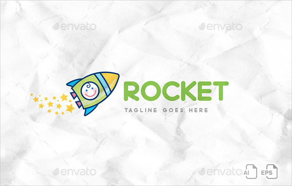 Baby Rocket Design Logo