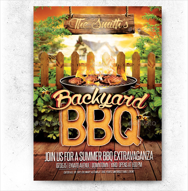 Backyard BBQ Party Flyer