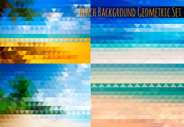 Beach Background Geometric Set