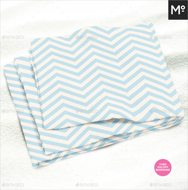 Modern PSD Beach Towel Mock-Up