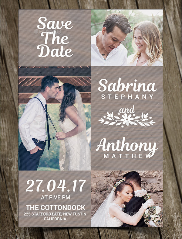 Beautiful Rustic Wedding Invitation
