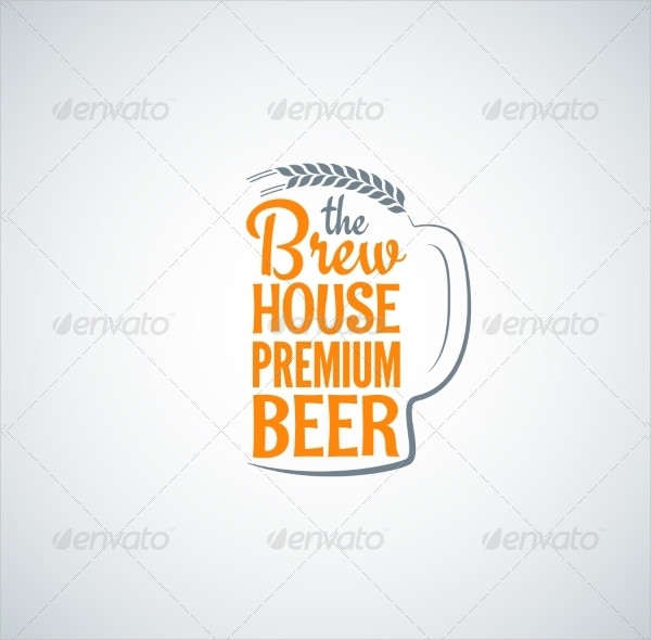 Beer Bottle Glass PSD Background