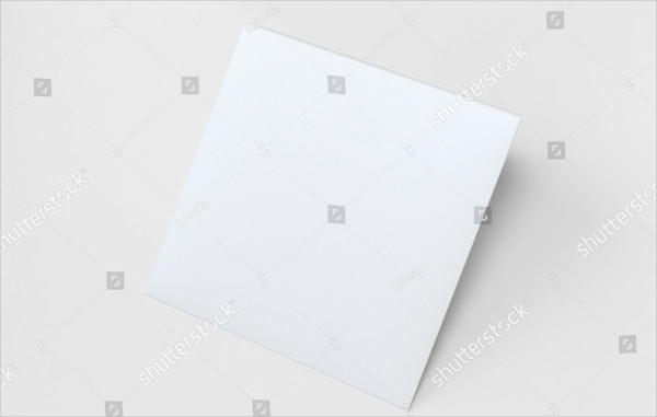 Blank Square Envelope Mockup Isolated