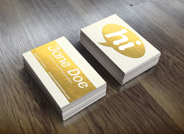 Branding Gold Foil Dotted Business Card
