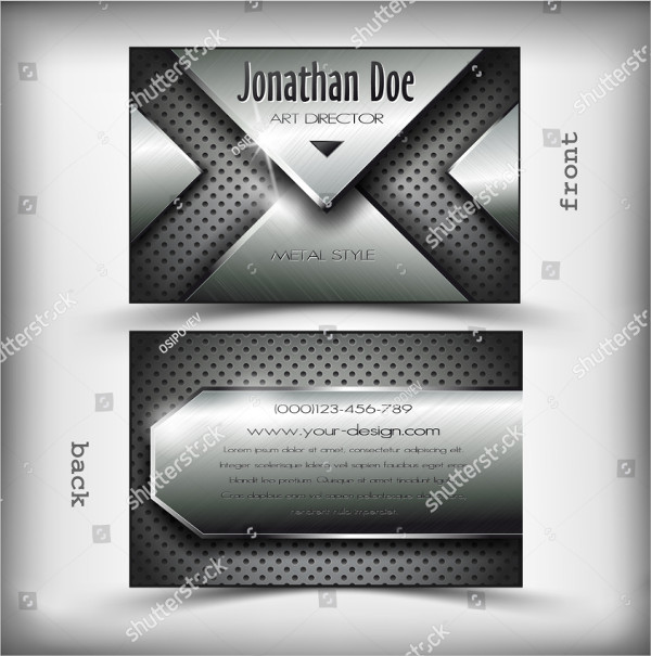Business Card Metal Design