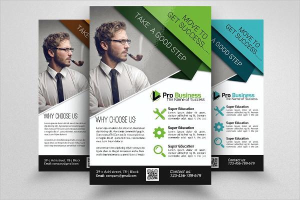 Business Executive Training Flyer Design