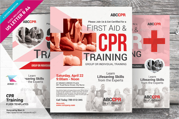 training flyers template
