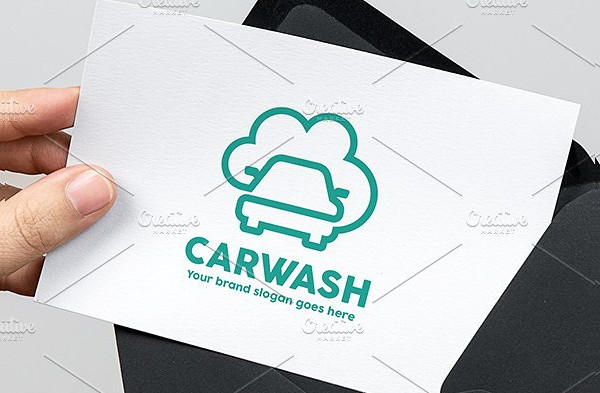 Car Wash Line Logo