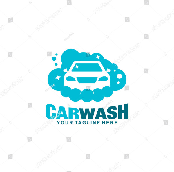 Clean Car Wash Logo Design Template