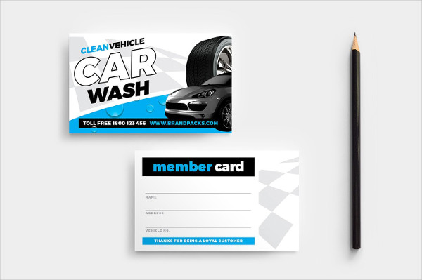Car Wash Member Card Template