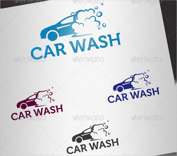 Car Wash Service Logo Template