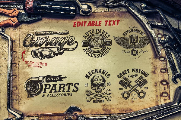 Car Service Logos & Elements Bundle