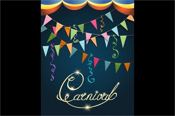 Carnival Dance Poster Design Template