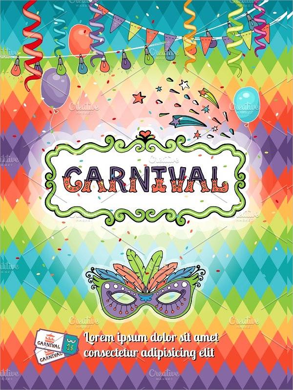 Carnival Invitation Poster Template