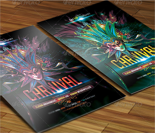 Popular Carnival Party Poster Design