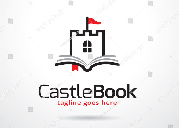 Castle Book Logo Template
