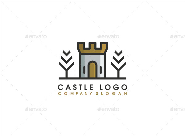 Castle Design Logo Template