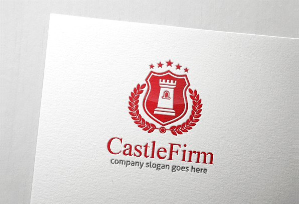 Castle Firm Crest Logo Template