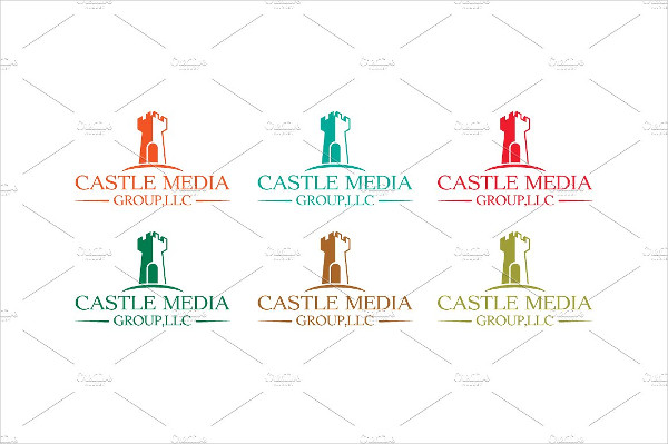Stylish Castle Media Logo Template