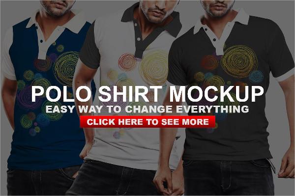 Casual Polo Tshirt Mockup Template