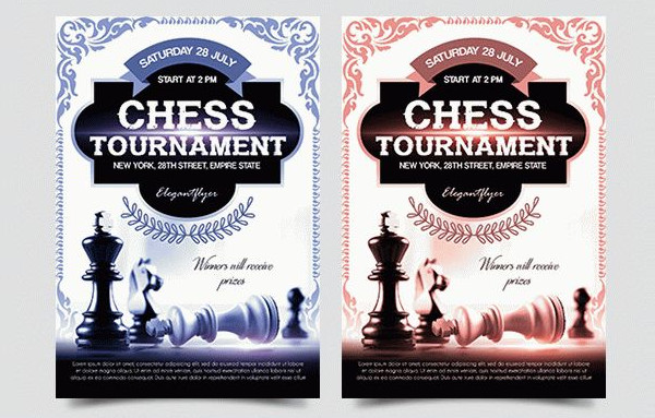 Chess Tournament Free Flyer PSD Template