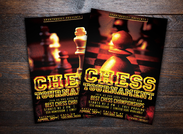Chess Championships Flyer Template