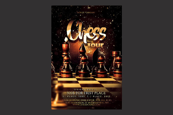 Printable Chess Tour Flyer Design