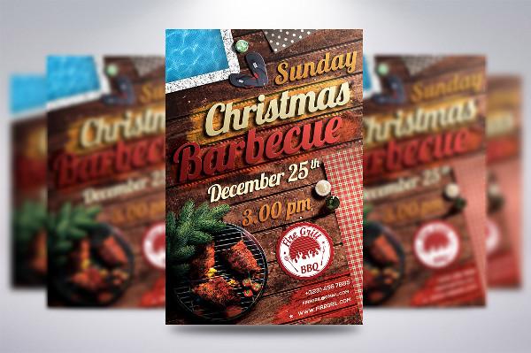 Christmas BBQ Flyer Template