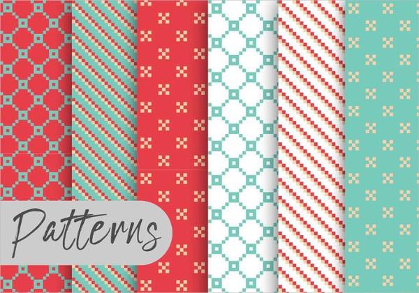 Christmas Pixel Pattern Set Free Download